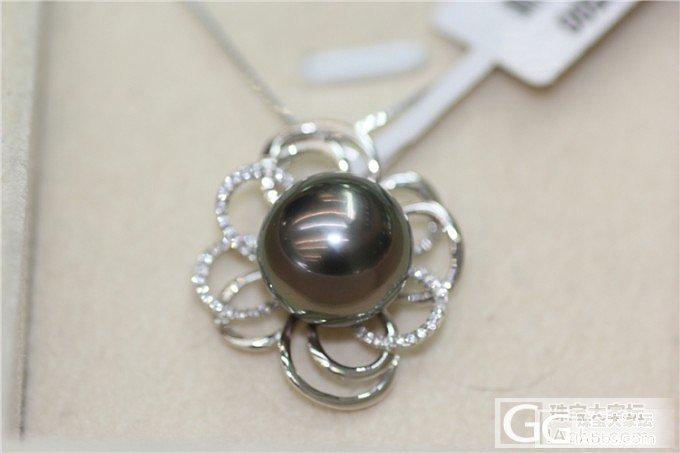 【伊人美珍珠】完美12.1mm大溪地黑珍珠吊坠!!_有机宝石