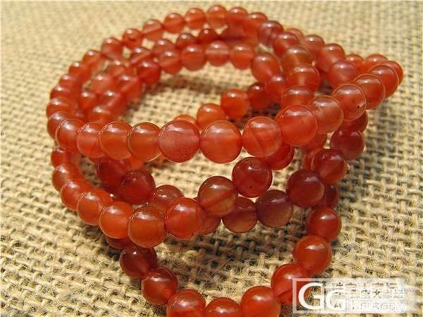 【文雅清阁】南红 手链 联合料 粉红色(店铺内有裙装)420元_传统玉石