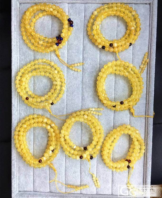 天然波罗的海蜜蜡  7mm+ 108佛珠_有机宝石