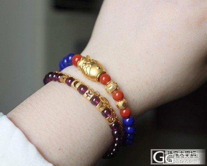 金子和南红、青金简直绝配啊,颜色浓艳~_青金石南红串珠红纹石金