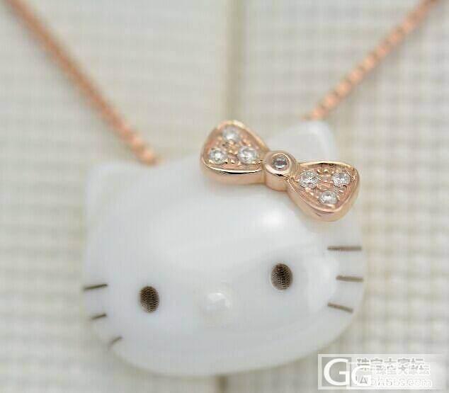 纯银镶嵌陶瓷KT猫_珠宝