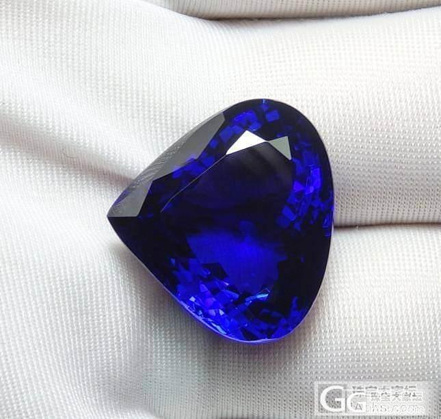 奈莎新到货 收藏级 绝美坦桑石 32.61ct 经典海洋之心~_宝石