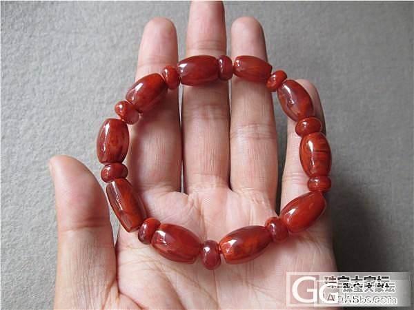 南红桶珠 手钏 不议价了 650元_传统玉石