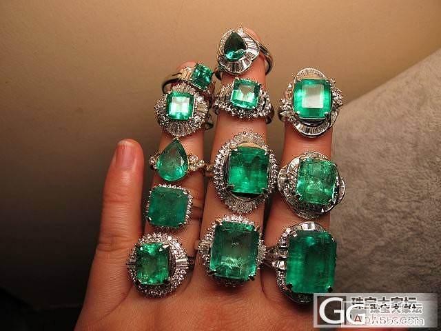 近期入的一些祖母绿和红蓝宝_珠宝