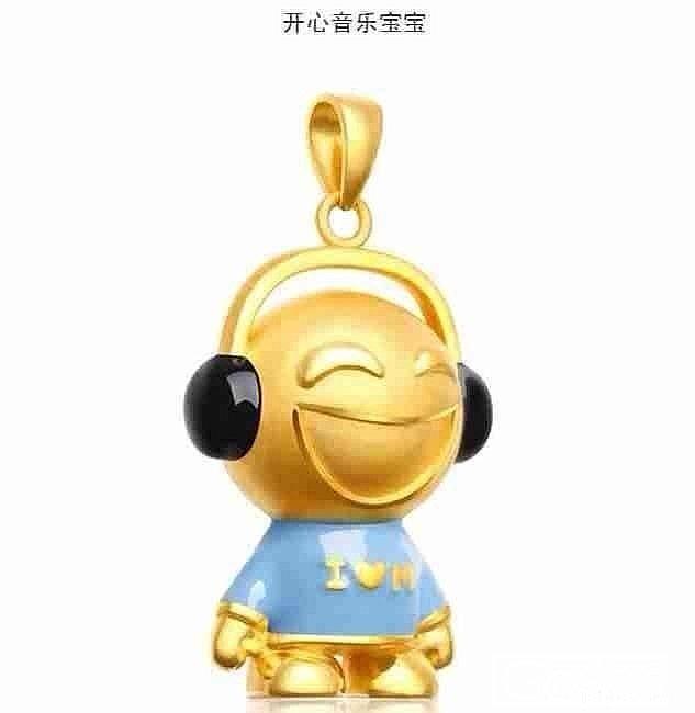 3D硬金 周大福宝宝_吊坠金