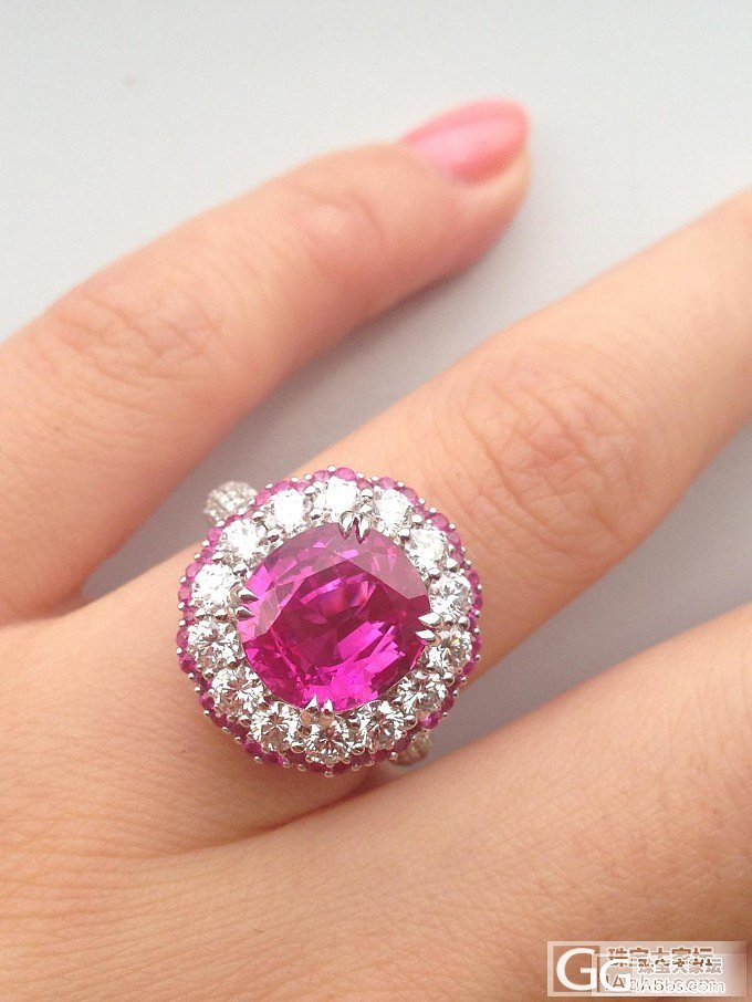 我的5克拉缅甸无烧粉色蓝宝石,粉色系的最后一个。_蓝宝石戒指刻面宝石