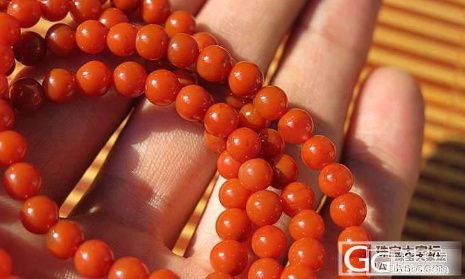 四川凉山九口料南红玛瑙柿子红近满色满肉珠链_玛瑙
