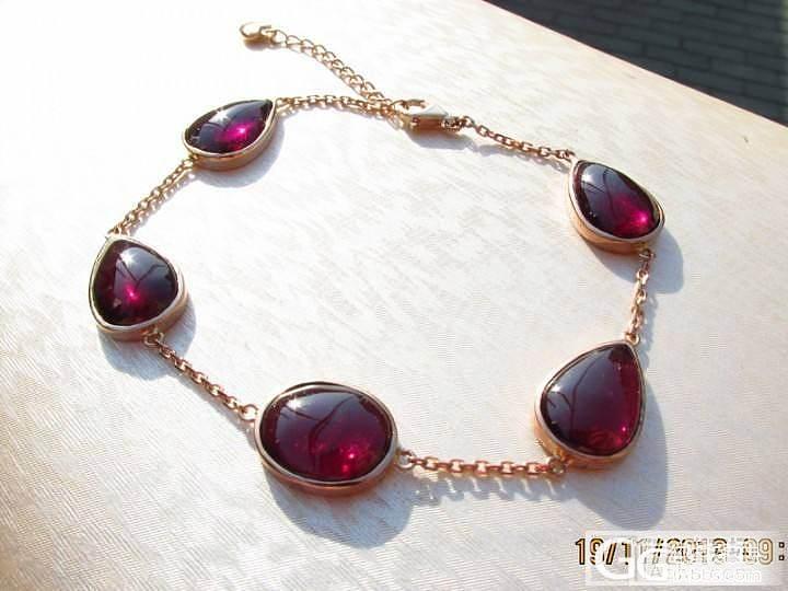 【彩石记】18k玫瑰金镶嵌素面紫牙乌手链_宝石