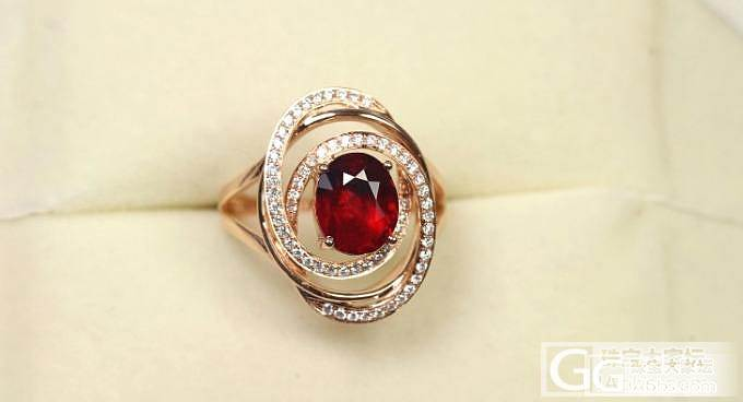 【忆宝】造型别致 缅甸 天然无烧 2ct+红宝石戒指_宝石