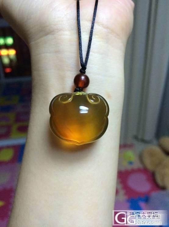 晒晒我的金兰带蜜的宝宝锁,如意锁_有机宝石