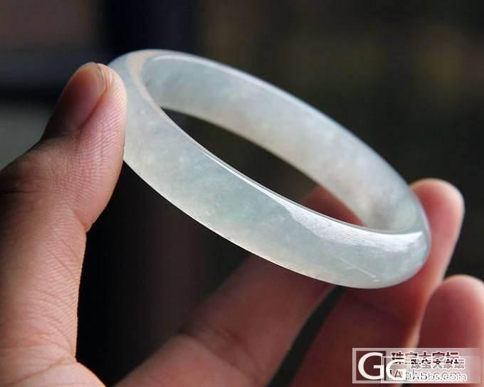 【史书翡翠】冰种  圆镯55.7#   冰清玉洁  水灵的feel~~_翡翠