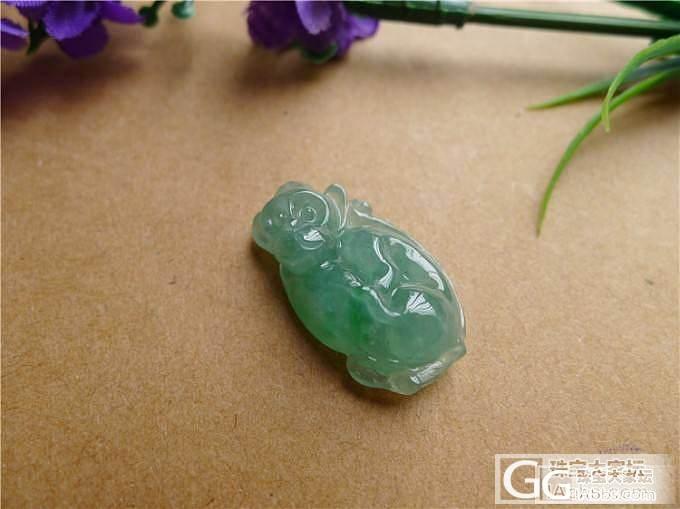 【小蛋蛋美玉】绿色猴子售价750,微信号:feicui10_小蛋蛋美玉店