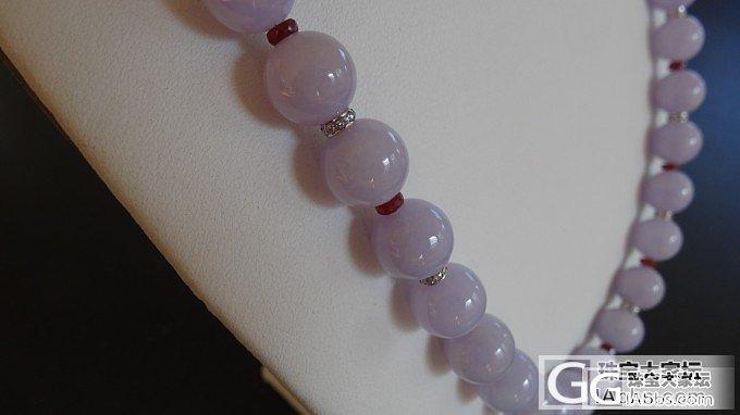 紫罗兰翡翠珠链和与之配套的耳坠,GIA证书_翡翠耳坠项链