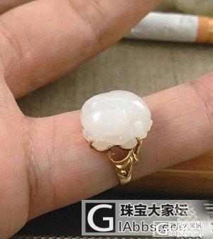 ——转大师兄家的和田籽貔貅戒指——_传统玉石