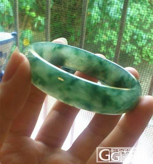 小圈口冰糯蓝花,蓝绿水,糯化深蓝,手镯,都是带蓝的_翡翠