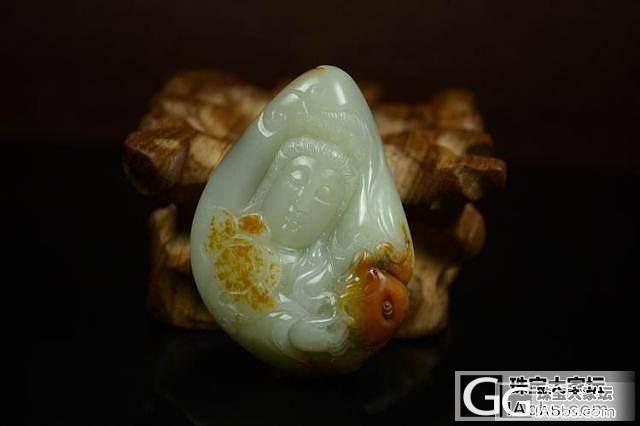 和田玉挂件 真品保真 支持复检 饱满大气油润枣红皮白玉籽料观音_传统玉石
