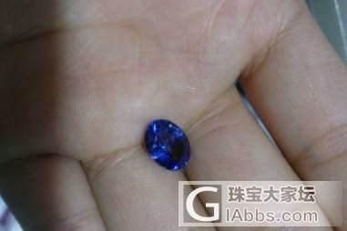 坦桑石偏紫2.3ct是什么价合适_宝石刻面宝石