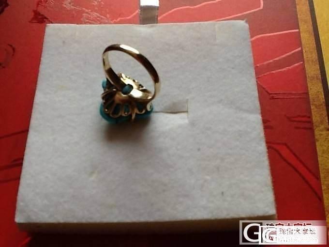 再开帖降价10K金大溪地黑珍珠美国天然绿松石戒指,耳环_珠宝