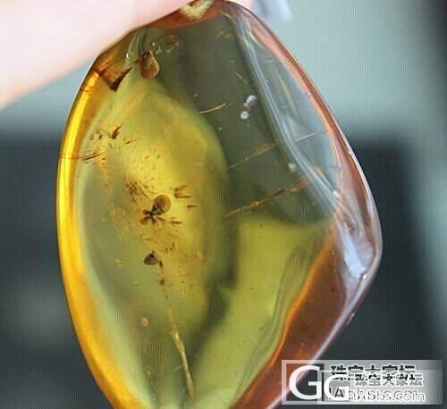 【收藏级别】0735缅甸天然琥珀 净水金珀挂件13.95克 送证书_有机宝石