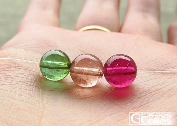 【彩石记】绿色、橙色、红色碧玺单珠_宝石