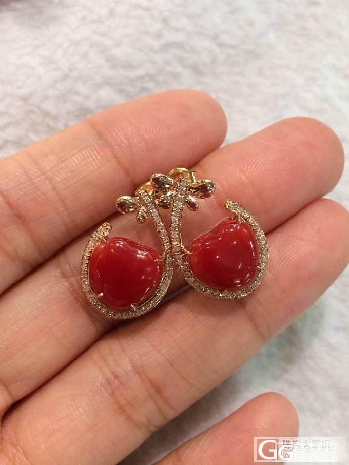 珊瑚耳丁,戒指,吊坠_有机宝石