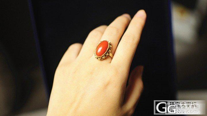新入古董红珊瑚戒指一枚!大爱!_珊瑚
