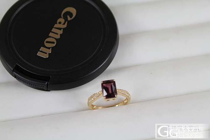 18K镶嵌简洁的碧玺戒指_珠宝