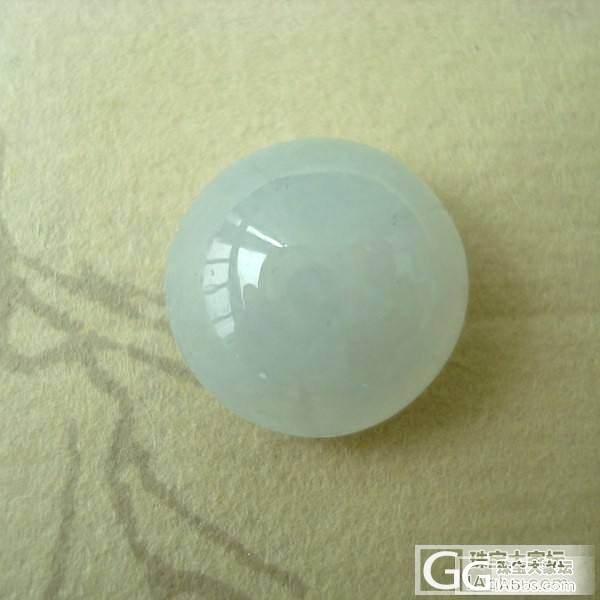 4月30日 天然A货缅甸翡翠冰种冰白翡翠戒面蛋面可镶嵌戒指11_翡翠