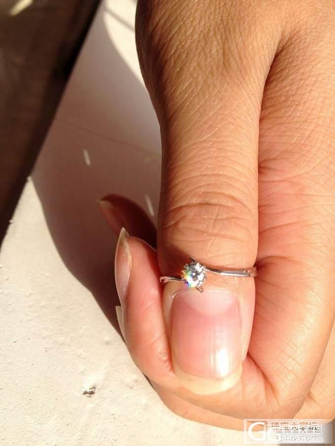特别特别小的一个小戒指,请问这是真的假的啊?_钻石