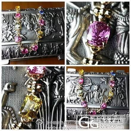 彩色蓝宝石手链  价格:46500_宝石
