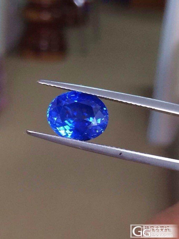【瑞意邦珠宝】——5.36克拉斯里兰卡有烧矢车菊蓝宝石 带GRS证书_瑞意邦珠宝