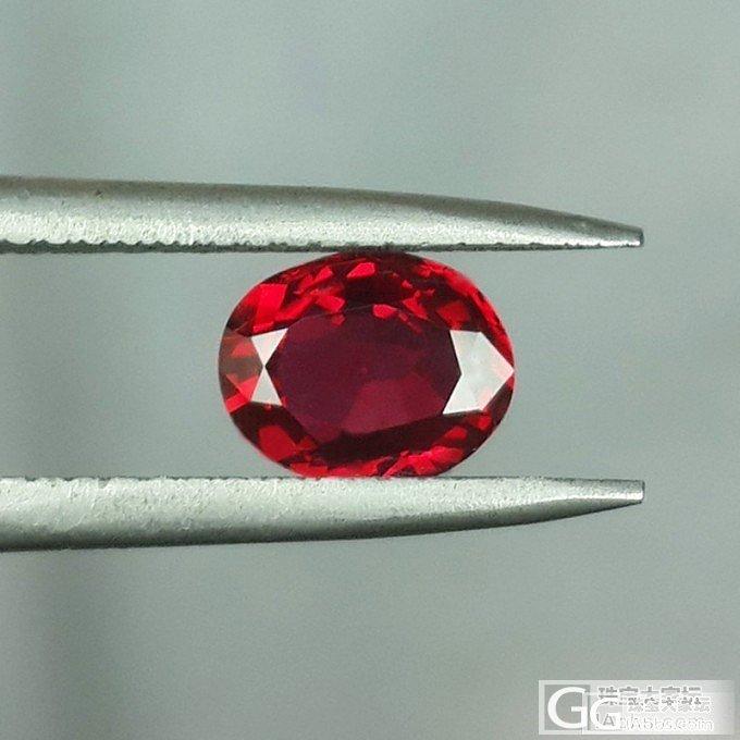 【LEAS彩色宝石】1.22ct高品质无烧鸽血红宝石_莫桑石宝石