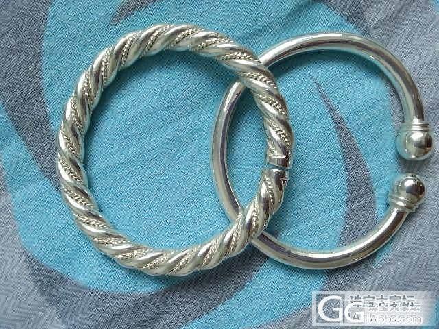 新鲜出炉,热乎乎的两只银镯_手镯银