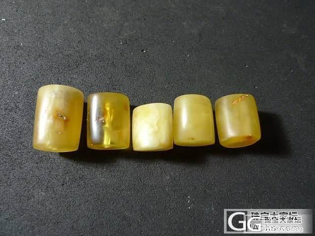 这些日子DIY的一些蜜蜡桶珠^^外挂个复古琥珀大戒指_有机宝石