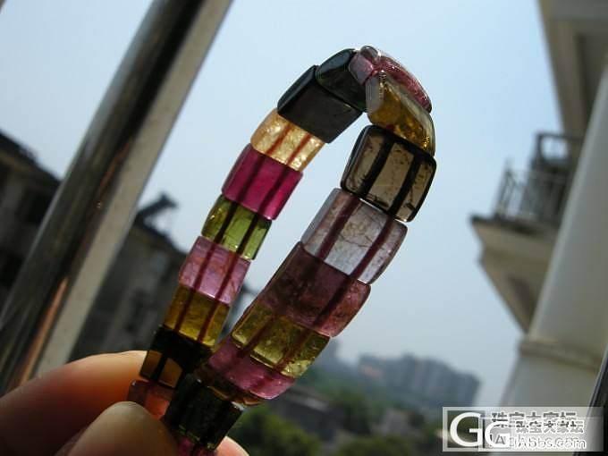 8mm碧玺小手排一条  5mm净体钛晶佛珠一条_宝石
