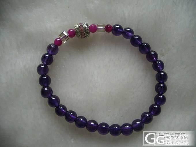 秀一下我自己设计的紫晶手链~_工艺