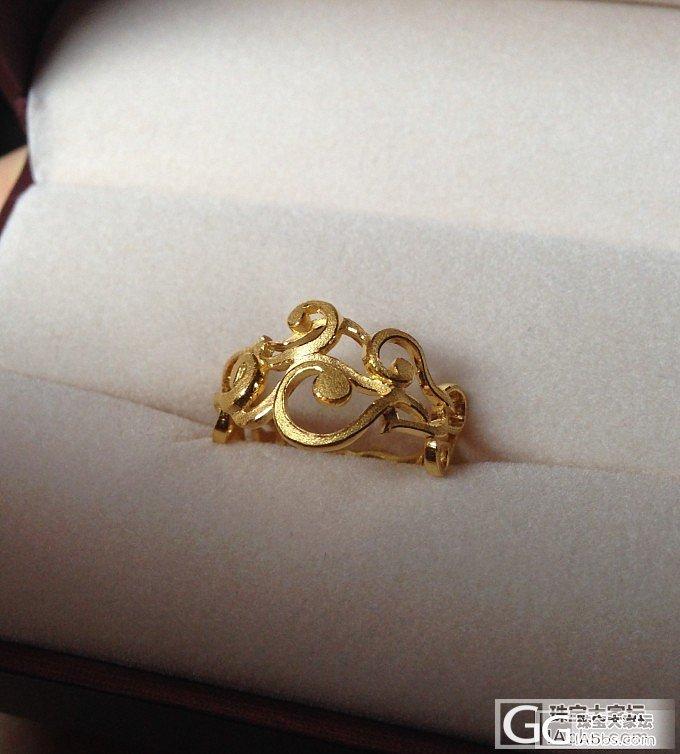 刚收到的花藤戒和18k链子_项链戒指金
