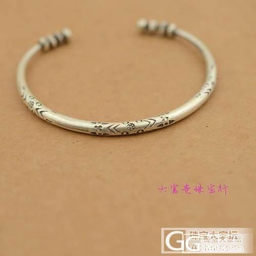 泰国清迈进口手工银----纤细民族风开口手镯_银