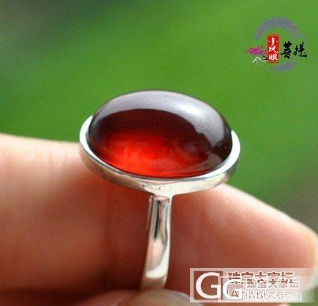 斯里兰卡进口来的橙红石榴石鸽子蛋戒指 增强女人味 显手白_小凤眼菩提