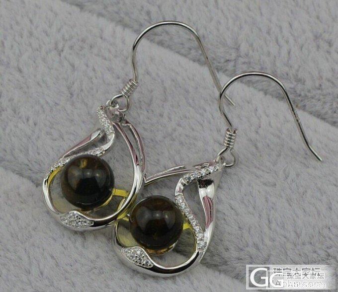 迎10.1国庆节,几枚缅甸金蓝琥珀戒指和耳环特价回馈!还有一条白蜜! 还是包邮费!_有机宝石