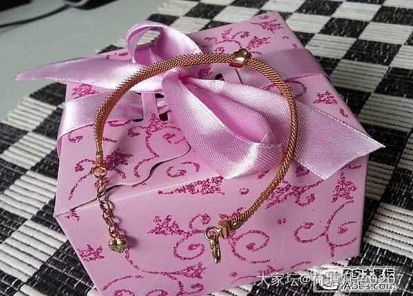 怀旧-------十几年前的一枚Just Diamond的镯链!_手镯金