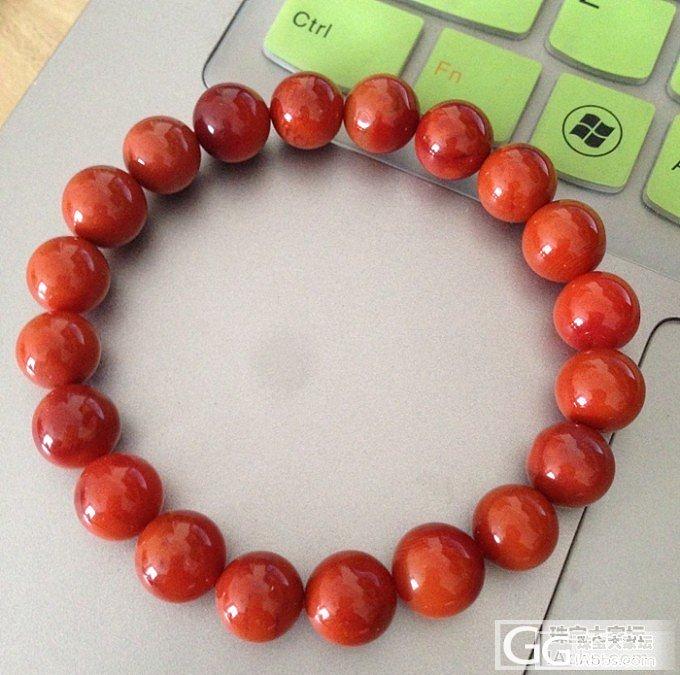 第一次网上买的南红手串,大家给看看成色如何。_南红