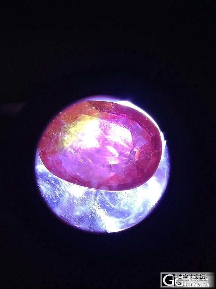 请教这种红宝石怎么会有黄色  好像染色似的 求鉴定!_红宝石
