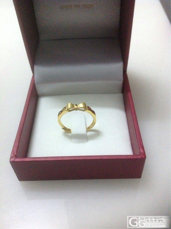 买了个大福家的小蝴蝶结戒指_戒指金