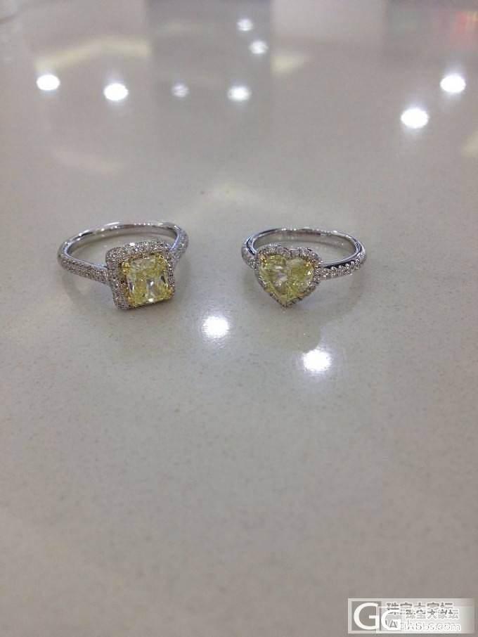 客户的两个黄钻女戒_珠宝