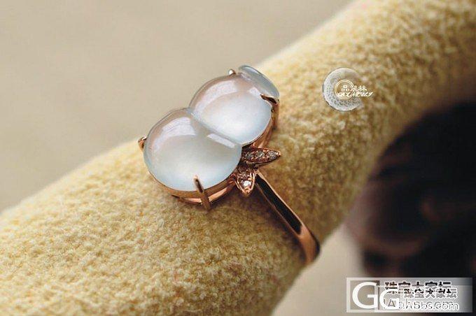 新品预售【品翠林翡翠】冰种葫芦戒指 13# 特价1580元_翡翠