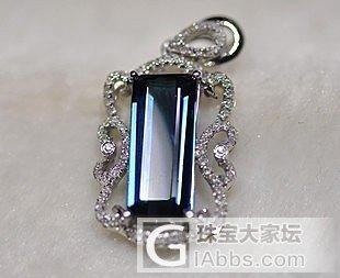 高净度殿堂收藏级的蓝碧玺宝石~~_宝石