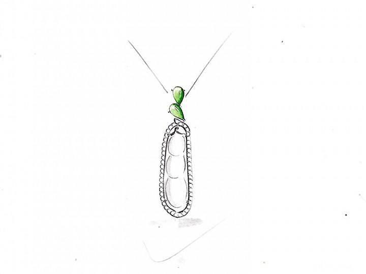 9月5布衣镶嵌客货纯白豆荚配绿扣头_布衣镶嵌