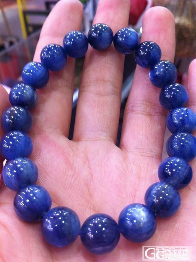 【佳艺水晶批发】猫眼蓝晶石手珠手链 10mm 低价包邮啦,进来看看吧_宝石