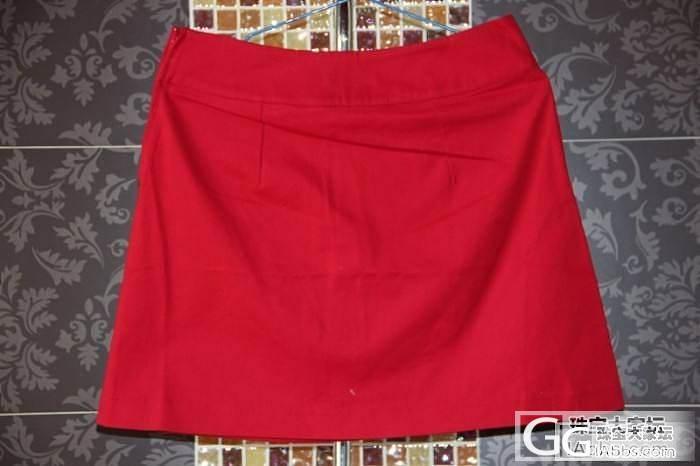 CAMAIEU2012夏装外贸大牌原单尾货女装红色半身裙短裙_珠宝